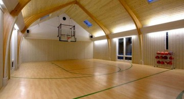 large indoor home basketball courts