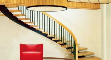large spiral wooden staircase designs