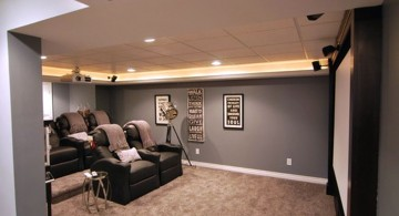 lighting ideas for basement as home theatre