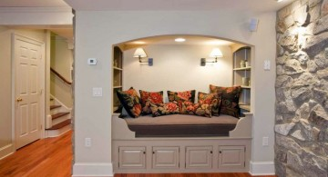 lighting ideas for basement with small bed cave