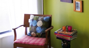 lime green accent walls for living room corner