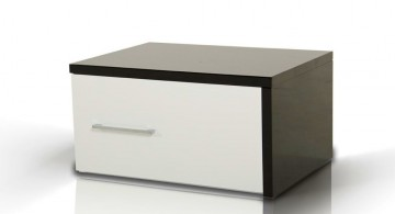 low with single drawer modern nightstands white