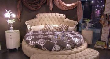 luxurious circular bed