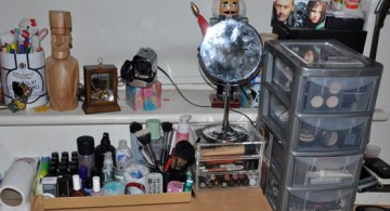 make up storage cabinet ideas