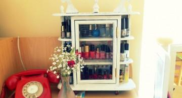 make up storage cabinet ideas for nail polish