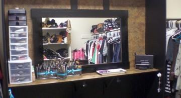 make up storage cabinet ideas in sleek black