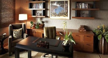 masculine and elegant stylish home office