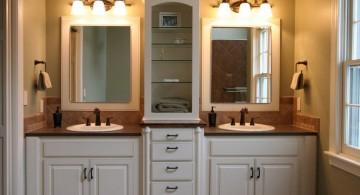 master bathroom lighting ideas with twins wash basin
