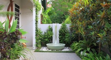mediterranean style landscape fountain design ideas for small space