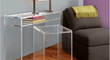 minimalist Acrylic Computer Desk