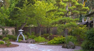 minimalist Japanese garden backyard design