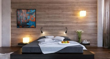 minimalist and Asian inspired bedroom wall panel design ideas