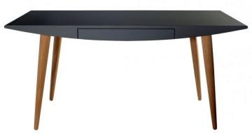 minimalist and futuristic sleek office desk