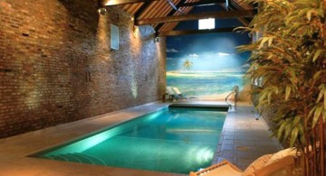 minimalist beach themed pool shapes and designs for indoor pools