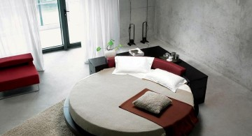 minimalist circular bed