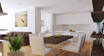 minimalist contemporary earth tone living room