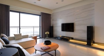 minimalist entertainment room