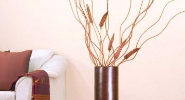 minimalist floor vase with branches