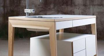 minimalist freestanding kitchen sinks