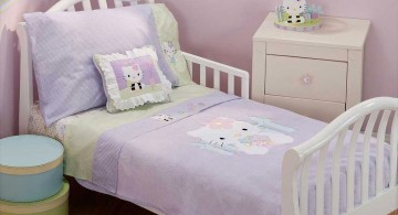minimalist in soft purple hello kity girls bedroom designs for small rooms