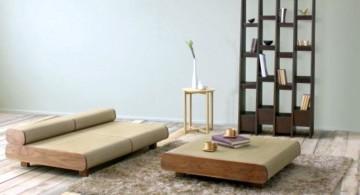 minimalist japanese inspired living room