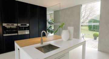 minimalist kitchen island with sink