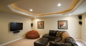 minimalist lighting ideas for basement