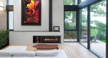 minimalist modern furniture for glassed wall living room