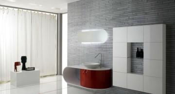 minimalist modern furniture for spacious bathroom