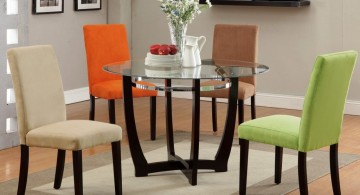 minimalist multi colored dining chairs
