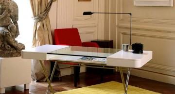 minimalist office furniture in victorian room
