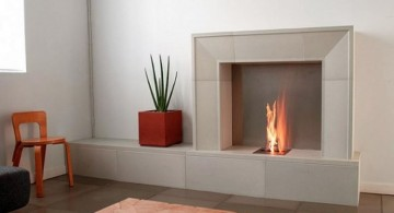 minimalist room modern fireplace designs with glass