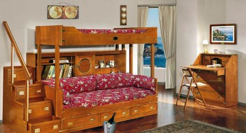 minimalist teenage rooms ideas with rustic bunk beds