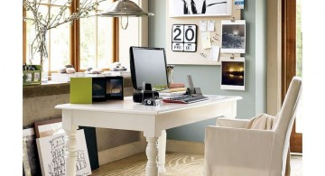 minimalist white home office design ideas for small spaces