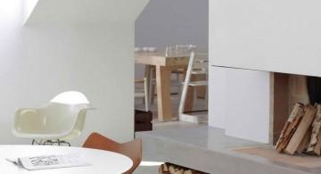 minimalist white scandinavian fireplace design ideas