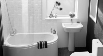 minimalistic black bathrooms ideas