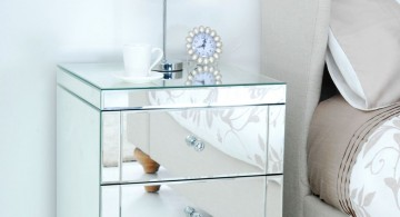 mirrored and pretty modern nightstands white