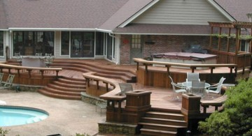 modern deck design for bigger houses