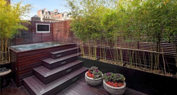 modern deck design for jacuzzi in limited space