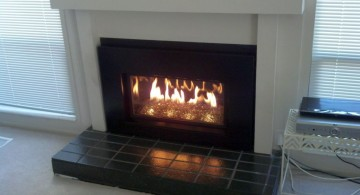 modern fireplace designs with glass