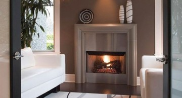 modern fireplace designs with glass for limited space