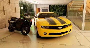 modern garage designs and inspiration in beige