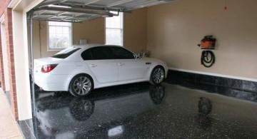 modern garage designs and inspiration with black granite tiles