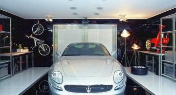 modern garage designs and inspiration with polished black tiles