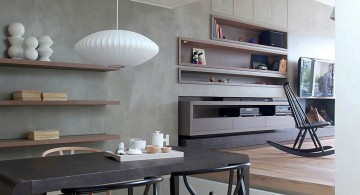 modern kitchen tables for small spaces and low hanging lamp