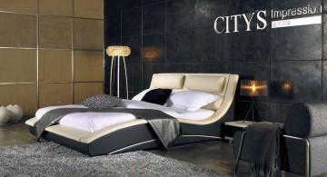 modern masculine curved bed designs