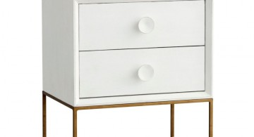 modern nightstands white and metal wires for stand