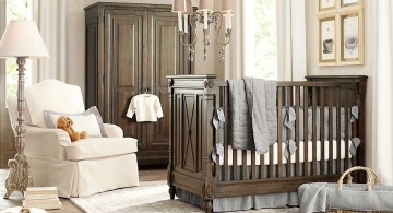 modern nursery room design ideas in classic colors