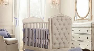 modern nursery room design ideas with classic baby crib