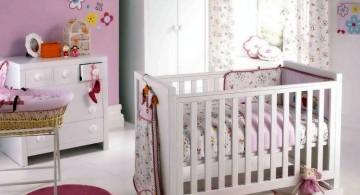 modern nursery room design ideas with white furnitures